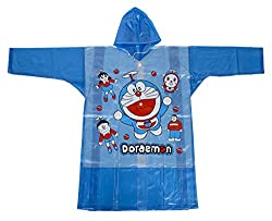 Tarun Traders Rainwear Unisex Rubber Raincoat (Blue, 2-3 Years)
