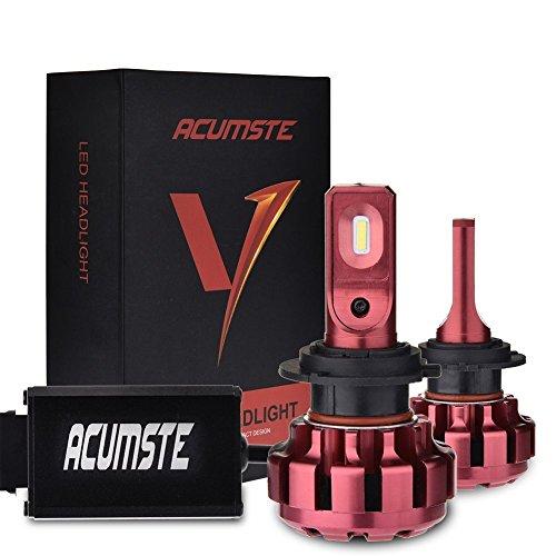 Acumste 2pcs H7 LED Faros Coche Bombillas Canbus, 60 W 7200LM Faro Coche IP67 Impermeable 6000K Blanco Frio del Luces Delanteras del Coche Kit