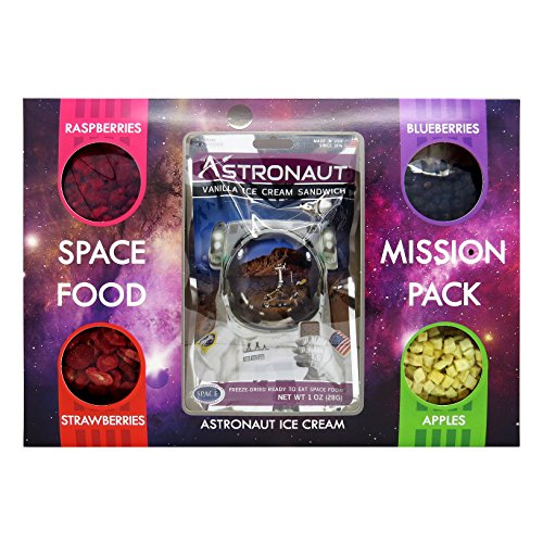 Preisvergleich Produktbild Astronaut Weltraum-Nahrung Mission Pack Vanilleeis Sandwich & Obst Auswahl