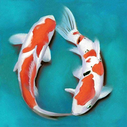 Die Art Factory Feng Shui Koi Fisch Malerei 91,4cm (W) - Fisch Feng-shui Koi