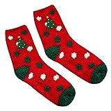Luckycat Calcetines de Navidad Reno calcetines algodon 100 mujer Santa claus medias muslo mujer Impresión 3D Calcetines de Navidad Medias calcetines de navidad para mujer medias mujer verano