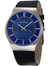 Skagen Herren-Armbanduhr XL Analog Leder 833XLSLN