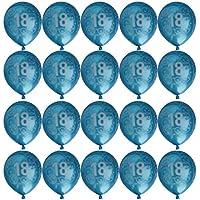 20pcs Palloncini Compleanno Decorazione Del Partito Anniversario Numero Età - 1 /13 / 16 / 18 / 20 / 21 / 30 / 40 / 50 / 60 / 70 / 80 Anni - Blu, 18anni - 60 ° Compleanno Palloncini
