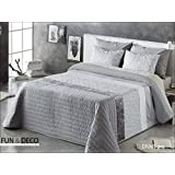 Fundeco - Colcha Bouti DIVAR - cama de 150/160 cm. Color Gris