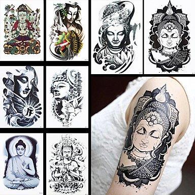 hjlhylr-8pcs-mode-femmes-temporaires-hommes-buddha-joss-art-corporel-dessin-tatouage-impermeable-fle
