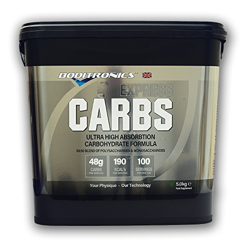 51gIXK3T4HL. SS500  - Boditronics Express Carbs, 5kg Slow and Fast Release Energy Powder