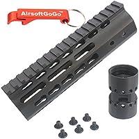"CNC Aluminio 7"" Key Mod Rail Guardamanos para Marui Std M4 Serie CQB Airsoft AEG - Llavero Incluido"