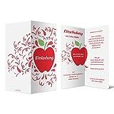 60 x Einschulung Einladungskarten Einschulungskarten Schulanfang Set - Roter Schulapfel