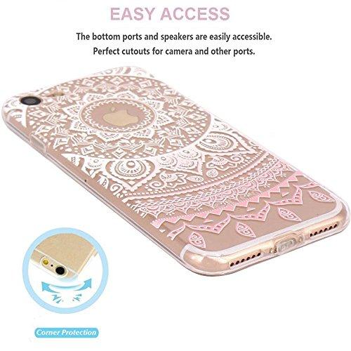 Schutzhülle iPhone Schutzhülle étui-case transparent Liquid Crystal Blume aus TPU Silikon klar, Schutz Ultra Slim Premium, Schutzhülle Prime für Iphone fleur-rose