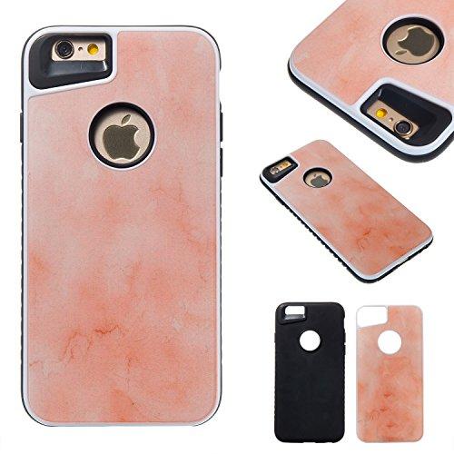 JIALUN-étui pour téléphone Housse de téléphone amovible double imitation en marbre pour téléphone portable pour iPhone 6 et 6s ( Color : D ) E