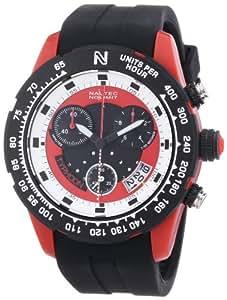 Nautec No Limit Herren-Armbanduhr XL Typhoon 2 Chronograph Quarz Kautschuk TY2 QZ/RBPCBKRD-WH