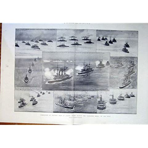 La Nave In Marcia della Flotta del Trapano di Tattiche del Vapore Spedisce la Formazione