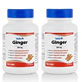 Healthvit Ginger Powder 250 mg Supplements (60 Capsules) - Pack Of 2