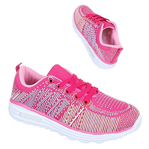 Ital-Design Low-Top Donna, Rosa (Pink), 38