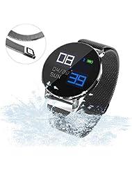 CTGVH Rastreador de Ejercicios,T5 Reloj Inteligente Pulsera niños Actividad rastreador Bluetooth Contador de Pasos