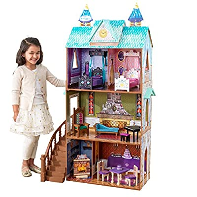 KidKraft 65945 Casa de muñecas Palacio de Arendelle de Frozen Disney® de madera para muñecas de 30cm con 12 accesorios incluidos y 3 niveles de juego por KidKraft