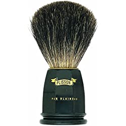 Plissons 5543 - Brocha de afeitar (pelo de tejn gris, tamao 12, montura negra)