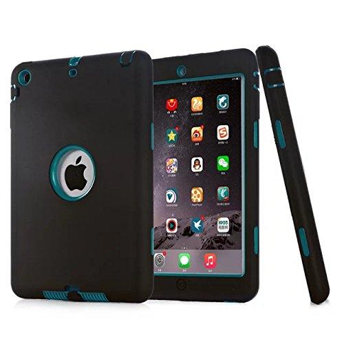 Fisel Schutzhülle für iPad Mini, iPad Mini 2, iPad Mini 3, dreilagig, robust, stoßfest, Hybrid, Kratzfest, stoßfest, hohe Stoßfestigkeit