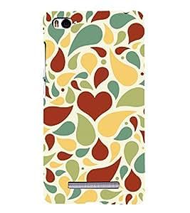 Brown Heart Wallpaper 3D Hard Polycarbonate Designer Back Case Cover for Xiaomi Mi 4i :: Xiaomi Redmi Mi 4i