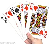 Jumbo Playing Cards Deck Extra Large Cards Playing Cards Pack of 52 New by MY