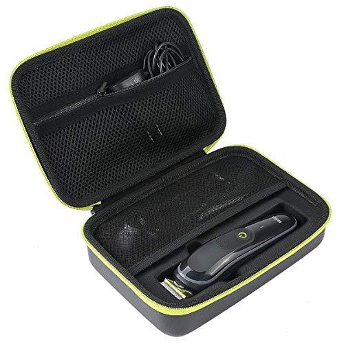 Khanka Tasche für Braun 6-in-1 Multi-Grooming-Kit MGK3021/ /MGK5080 /Braun BT3041 Barttrimmer und Haarschneide Case Schutz-Hülle Etui Tragetasche. (Grüner Reißverschluss) Care Kit 1 Kit