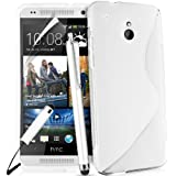 HTC One Mini (M4) Wave Series Slim GEL Case Cover Includes Touch Screen Stylus ScreenProtector and Polishing Cloth