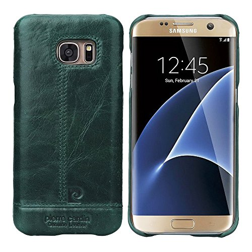 Genuine-Pierre-Cardin-Premium-luxury-Italian-leather-Back-Case-Back-Cover-For-Samsung-Galaxy-S7-Edge-Dark-Green-PCL-P03
