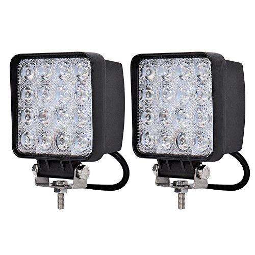 Preisvergleich Produktbild Kaleep 2 X LED 48W Arbeitsscheinwerfer Arbeitsleuchte 6000K 67IP- Traktor - Bagger Nebelscheinwerfer