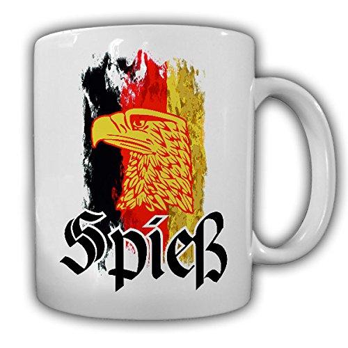 Deutschland Spieß Bundeswehr Adler Fahne schwarz rot gold Mutter der Kompanie Tasse Kaffee Becher #14268
