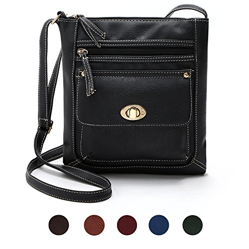 Yogogo Womens PU cuir satchel Cross Body Shoulder Messenger Bag