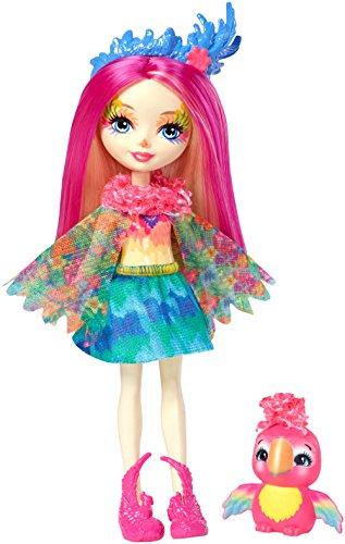 Mattel FJJ21 Enchantimals Papageienmädchen Peeki Parrot Puppe