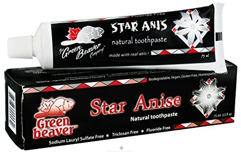 Green Beaver Toothpaste, Star Anise, 2.5 Ounce by Green Beaver