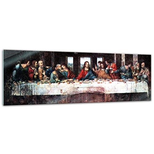 Bilderdepot24 Glasbild Leonardo da Vinci – Alte Meister – Das Abendmahl