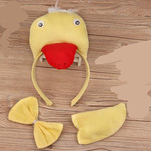 es Set Cartoon Tier Dreidimensional Stirnband für Halloween Weihnachten Party Dekoration, Ente, 15 * 10 * 1cm ()