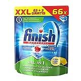 Finish Calgonit All in 1 Citrus, Spülmaschinentabs, XXL Vorteilspack, 63 Tabs (3 Stück gratis)