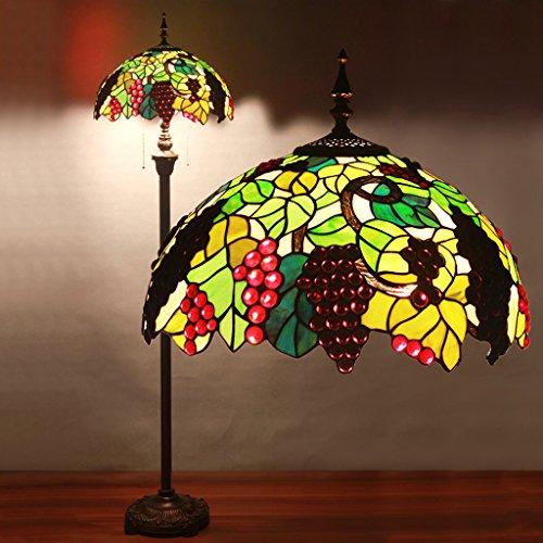 16 Chambre Inch Tiffany Lamp élégant Salon Garden Villa Hôtel Bar Décoré Avec Stained Glass Lamp Lampadaire