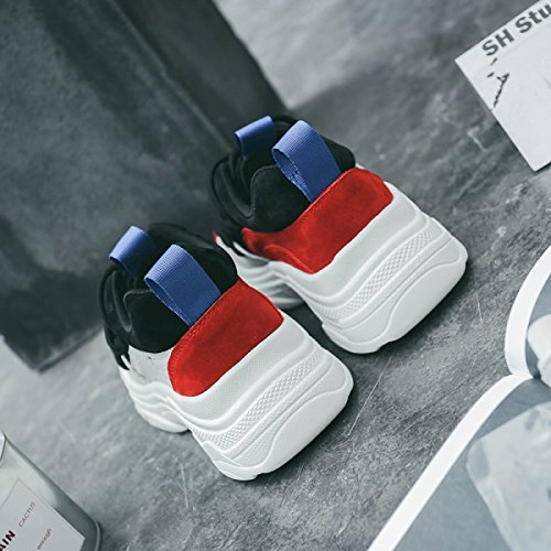 Yrps Sneakers Donna Primavera Scarpe da Corsa in Pelle Regalo Scarpe da Corsa Black