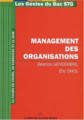 Management des organisations STG par Béatrice Gengembre