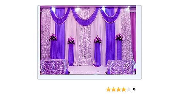 Hochzeitsbühnen Dekorationen Kulisseide Vorhang Violett Amazon De