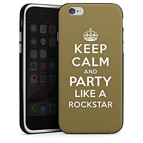 Apple iPhone X Silikon Hülle Case Schutzhülle Keep Calm Rockstar Musik Silikon Case schwarz / weiß