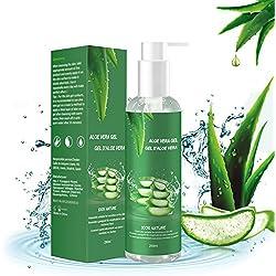 Aloe Vera Gel - 100% Bio für Gesicht Haare Körper, Feuchtigkeitscreme für Sonnenbrand Reparieren,Natürliche Feuchtigkeitspflege Aloe Vera Creme für trockene strapazierte Empfindliche Haut- 250ML
