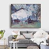 Leinwanddruck Ankunft Der Normandie Von Monet Wand Kunst
