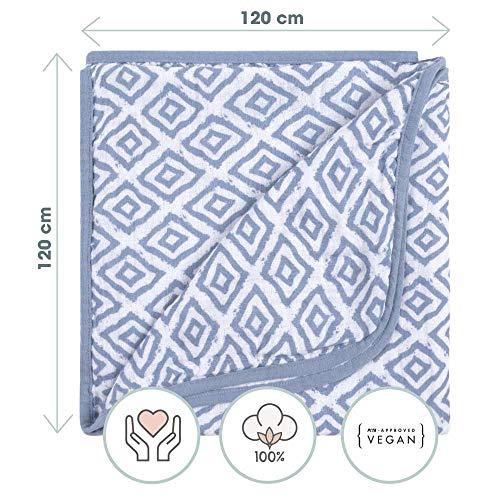 Linge de lit bebe avec oreiller et couverture mis en taille 40x60 et 100x135 cm Emma+Noah certifi/ée Oeko-Tex Standard 100 coeur pour garcon et fille