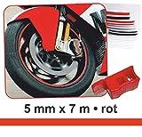Zierstreifen Wheel-Stripes für Motorradfelgen rot 5 mm x 7 m ~~~~~ schneller Versand innerhalb 24 Stunden ~~~~~