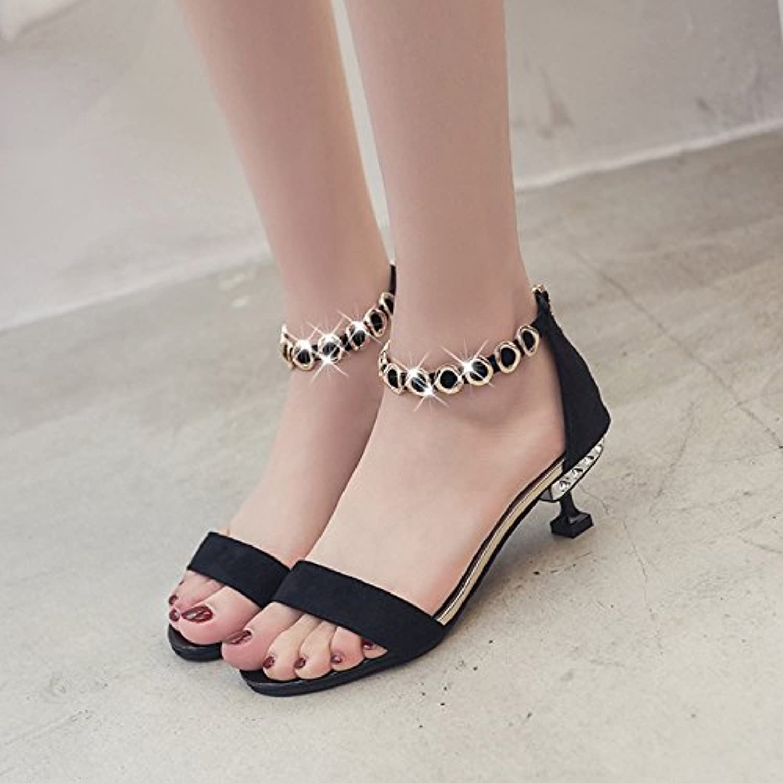 GTVERNH-in estate con belle tacco caviglia benda perline perline perline sandali corrisponde tutto roma scarpe scarpe sexy 37... | Alta qualità ed economia  c5bec9