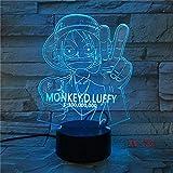 La Luce Notturna A Led 3D 7 Colori Cambia Un Set Di Atmosfera Da Camera Da Letto Desktop Luci Decorative Anime Installazione Bicicletta Regali Per Bambini 3
