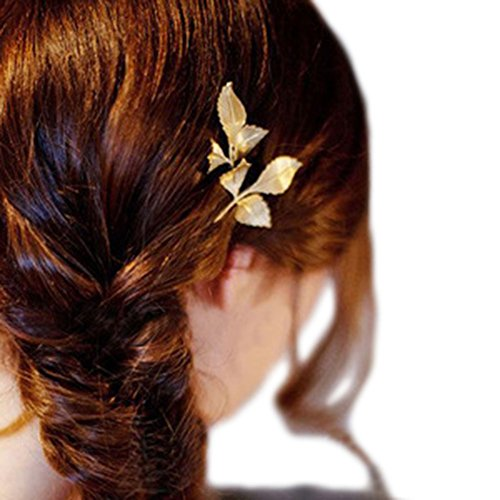 Kostüme Halloween Date (Cosanter Temperament Hairpin-Mode Haarspange Blatt Haarnadeln Haar Clip Haarschmuck)