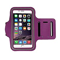 iphone 6s Armband (4.7Inch), Koly Running Sports Sweatproof Armband Gym Iphone 6/6s Arm Band Cover Case (Purple)