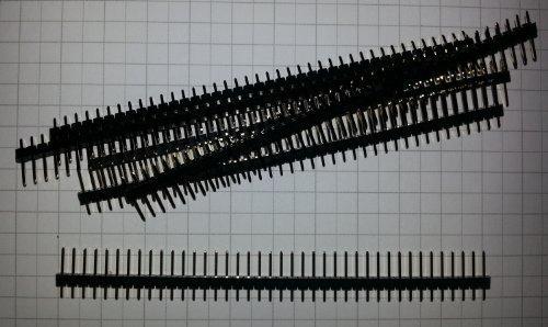 Fach Raster (10 x PCB Header / Stiftleiste, 2.54mm Raster, 40-fach - einreihig, PH1-40-UA)
