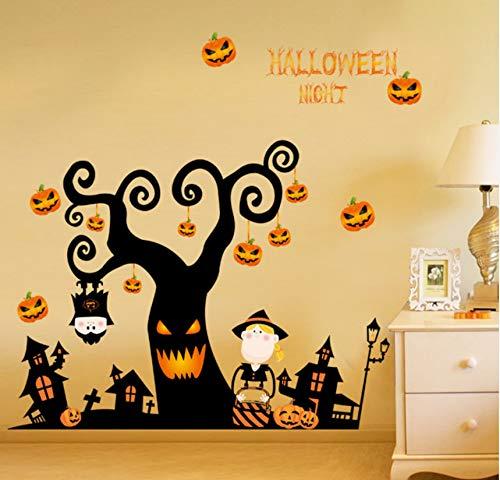 Halloween wandaufkleber schlafzimmer wohnzimmer aufkleber kreative fensteraufkleber nachtwanddekorationen -